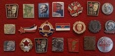Josip Broz Tito SFRJ Yugoslavia Communist Vintage Pins Badges Collection