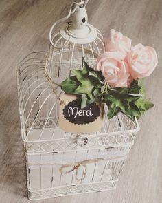 Notre urne Cage oiseau Thème champêtre