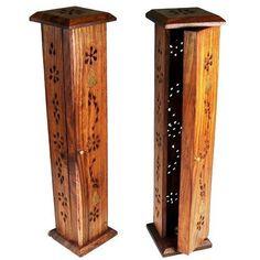 Wooden Incense Stick Holder Joss Insence Tower Box Insense Burner Ash Catcher in Home, Furniture & DIY, Home Decor, Home Fragrances | eBay