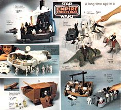 "An old circular advertising the Star Wars toys from the ""Empire Strikes Back"" movie"