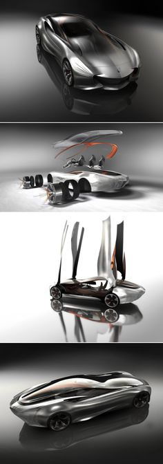 Aria, a concept Mercedes-Benz for 2030 - The designer Slavche Tanevski drew a completely innovative and futuristic concept for Mercedes Benz.