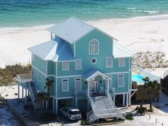 Homes, Single Family Vacation Rental - VRBO 254385 - 7 BR Gulf Shores West House in AL, June 8-15 $500 Off! Gorgeous 'Life O Reilly' Bchfrt 7bd and Priv Pool