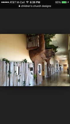 For church nursery treehouse theme Tree Bedroom, Kids Church, Church Ideas, Church Nursery, Church Design, Indoor Playground, Kid Spaces, House Rooms, Children Ministry