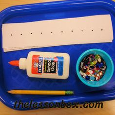 The Lesson Box. Liquid Glue Practice- Art.