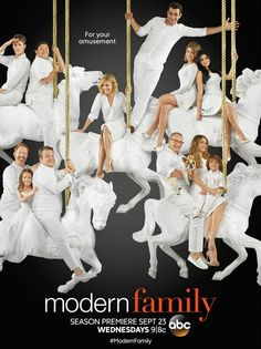 #ModernFamily - Season 7 Poster... OMG I MUST FIND OUT ABOUT ANDY AND HALEY!!! I'VE BEEN IN AGONY FOR MONTHS!!! Stupid cliffhangers...