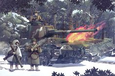 Safebooru is a anime and manga picture search engine, images are being updated hourly. Anime Military, Military Art, Military History, Guerra Anime, Military Drawings, Ww2 Pictures, War Thunder, War Comics, Armored Fighting Vehicle