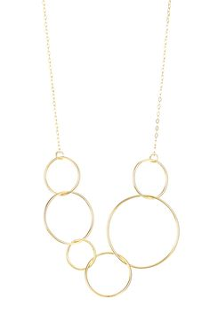 Sarah Healy   Entwined Circle Bib Necklace   HauteLook