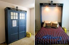 MURPHY BED DIY ~ also: http://diycozyhome.com/build-your-own-murphy-bed/
