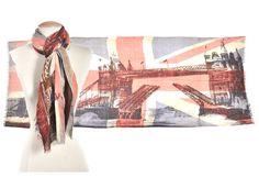 BBC America Shop - Union Jack and London Tower Bridge Scarf