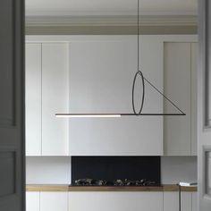 Stylish 47 Wide Large Designer Linear LED Chandelier in Black for Dining Room Cheap Pendant Lights, Pendant Lighting, Chandeliers, Kitchen Island Lighting, Linear Chandelier, Luminaire Design, Contemporary Interior, Modern Art, Floor Lamp
