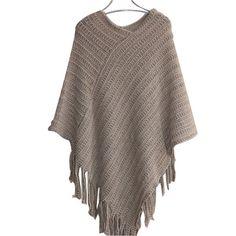 Wool Fringe Poncho
