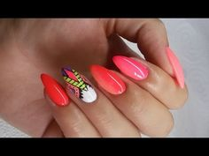 Aztec nails and ombre - YouTube