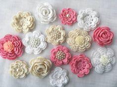 Crochet flowes (15pcs)