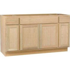 60x34.5x24 in. Sink Base Cabinet in Unfinished Oak