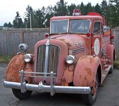"""doyoulikevintage: """" old fire truck """""""