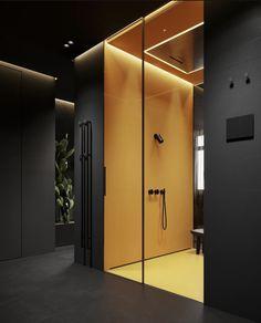 Home Room Design, Bathroom Interior Design, Modern Interior Design, Interior Architecture, Interior Decorating, House Design, Dark Interiors, Cool Apartments, Fireplace Design
