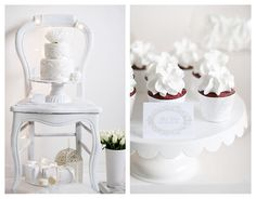 Inspiring Website: Call Me Cupcake All White Party, All White Wedding, 5th Birthday Party Ideas, Birthday Parties, Call Me Cupcake, Party Spread, White Cupcakes, Baptism Party, Christmas Wedding