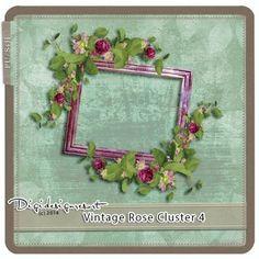 Printable Scrapbooking Vintage Rose Cluster 4 (PU/S4H) by Digidesignresort