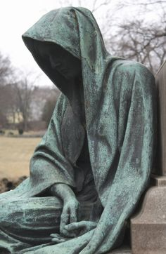 """The Angel of Death Victorious Photo- Lakeview Cemetery, Cleveland, Ohio (from """"then spoke the thunder"""") Cemetery Angels, Cemetery Statues, Cemetery Art, Memento Mori, Pinterest Arte, Old Cemeteries, Graveyards, Ange Demon, Modelos 3d"""
