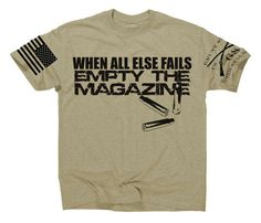 When all else fails, empty the magazine. Get yours here: http://www.gruntstyle.com/index.php?route=product/product&keyword=empty&product_id=1456