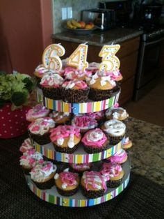 Easy Housewarming Party idea.  Cupcakes decorated with new house number using birthday candles.    It was fun and so easy.