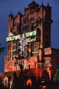 Hurtle up and down the infamous Hollywood Tower Hotel aboard a haunted elevator on The Twilight Zone Tower of Terror, located in Disney's Hollywood Studios at the Walt Disney World Resort Book with a Disney World Rides, Disney World Vacation, Disney World Resorts, Disney Vacations, Walt Disney World, Disney Parks, Disney College, Disney Worlds, Disney Travel