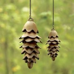 Pinecone Wind Chimes Made of Iron by SPI-San Pacific International Available for Sale at AllSculptures.com