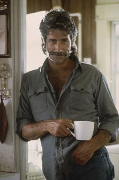 Sam Elliott, coffee, sexy, hot, actor, great voice, handsome, cool, photo.