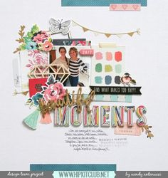 #papercrafting #scrapbooking #layouts - by @wantenucci
