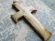 Bone Cross Pendant, Bone Cross, Cross Pendant, Cross,