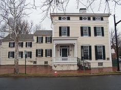 """The Lee-Fendall House in Old Town Alexandria, Virginia has served as home to thirty-seven members of the Lee family (1785–1903). Philip Richard Fendall I, Esq. began building the house for his second wife, Elizabeth (Steptoe) Lee 1785. Still standing on its original half-acre lot, it is in the vernacular """"telescopic style"""" of architecture similar to many Maryland homes, but not found elsewhere in northern Virginia. The house was renovated in 1850, adding Greek Revival & Italianate elements"""
