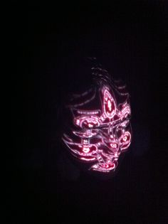 face, projection mapped