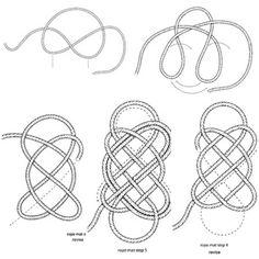 Fussmatte Knoten Seil selber machen Anleitung