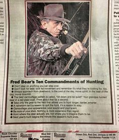 Fred Bear's 10 Commandments of Hunting