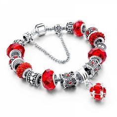 Bracelet perles de verres - VALENTINE - Boutique Sochic Voir: