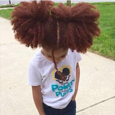 Afro Puffs , Red Hair , Epic Hair Madi, RedLilMissy - in our Natural Hair TShirt