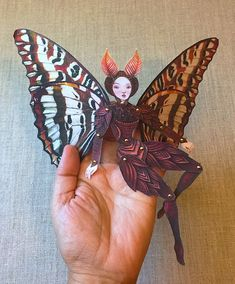 Moth Fairy Jointed Paper Doll Kit by cynthiathornton on Etsy Paper Puppets, Paper Toys, Paper Art, Paper Crafts, Doll Crafts, Diy Y Manualidades, Marionette, Stop Motion, Art Inspo