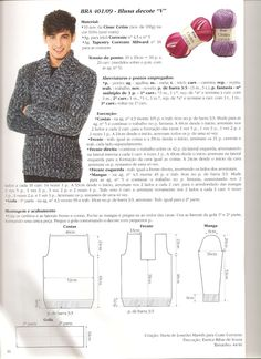 Basic Rules of Differentiation Sweater Knitting Patterns, Knitting Yarn, Boys Sweaters, Knit Crochet, Clothes, Knit Jacket, Tuto Tricot, Slippers Crochet, Outfits