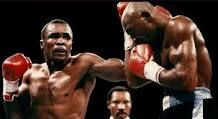 Boxing History:  1987 - Sugar Ray Leonard took the middleweight title from Marvin Hagler.    keepinitrealsports.tumblr.com    keepinitrealsports.wordpress.com
