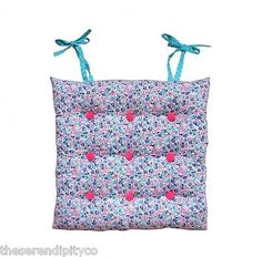 Bombay Duck Kitchen Chair Seat Pad Cushion Tie On UK Floral Cotton Fabric Dance