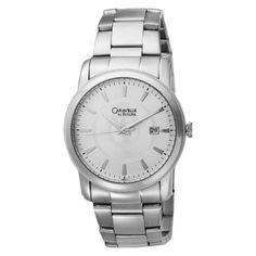 Men's Wrist Watches - Caravelle by Bulova Mens 43B111 Silver Dial Stainless Steel Bracelet Watch ** Check out this great product. (This is an Amazon affiliate link)