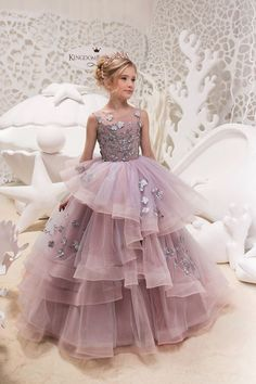 Items similar to Gray and Pink Flower Girl Dress - Birthday Wedding Party Holiday Bridesmaid Flower Girl Gray and PinkTulle Lace Dress on Etsy Vestidos Flower Girl, Pink Flower Girl Dresses, Little Girl Dresses, Pink Dress, Girls Dresses, Lace Flower Girls, Kids Gown, Tulle Dress, Dress Lace
