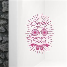 Αυτοκόλλητο βιτρίνας Enjoy Summer Sales