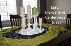 Easy, Inexpensive Centerpiece Ideas with household items- I love these:)