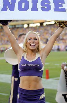 UW Washington Huskies cheerleader