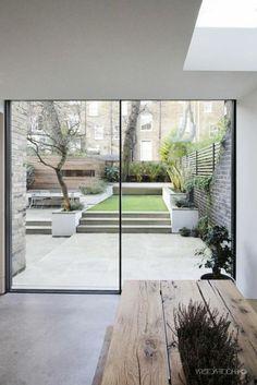 Luxurious Minimal Interior Design Inspiration # 42 - Lilly is Love Modern Garden Design, Backyard Garden Design, Backyard Landscaping, Interior Garden, Interior And Exterior, Minimalist Garden, Design Jardin, Back Gardens, Interior Design Inspiration