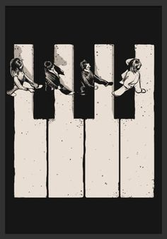 Ideas music poster art illustration the beatles Poster Dos Beatles, Les Beatles, Beatles Art, Beatles Lyrics, Touches De Piano, Rock And Roll, Musik Wallpaper, Pop Art, Piano Art