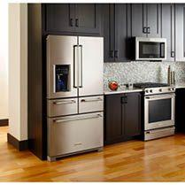 32 Kitchen Cabinets Around Refrigerator For More Storage