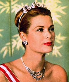 Princess Grace of Monaco, wearing the Order of St Charles