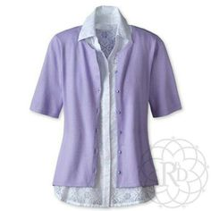 Coldwater Creek Lavender Short Sleeve Cardigan Cute Lavender Elbow Sleeve Cardigan.  Brand New with Tag & extra button. Never worn.  This is a rare sweater & hard to find.   ✨ FINAL PRICE ~ NO OFFERS ✨    PRICE IS FIRM unless bundled     All Sales Final | ❌ Trades or Holds | ❌ PP Coldwater Creek Sweaters Cardigans